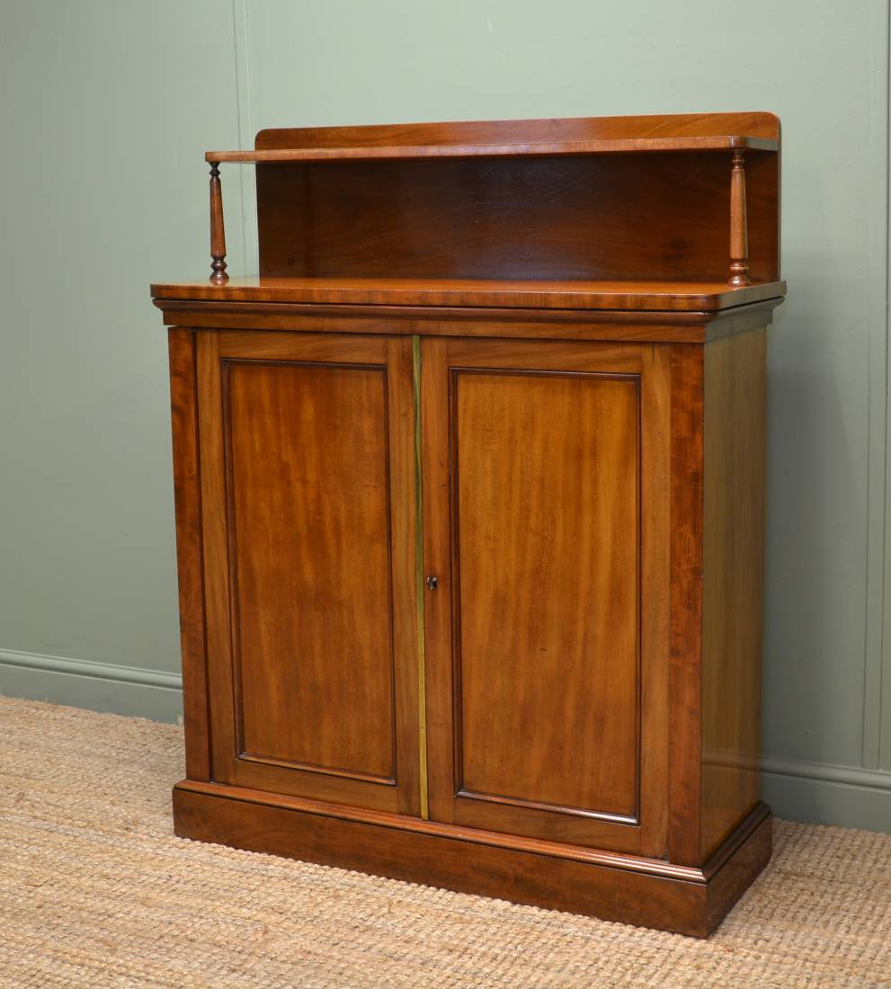 Victorian Mellow Mahogany Antique Chiffonier Cupboard.