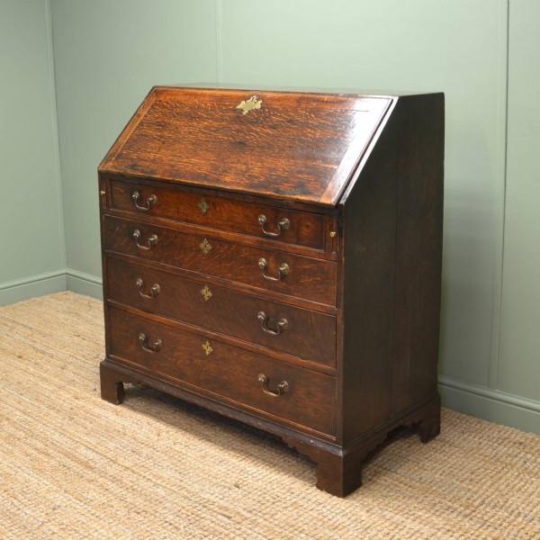 Country Georgian Oak Antique Bureau