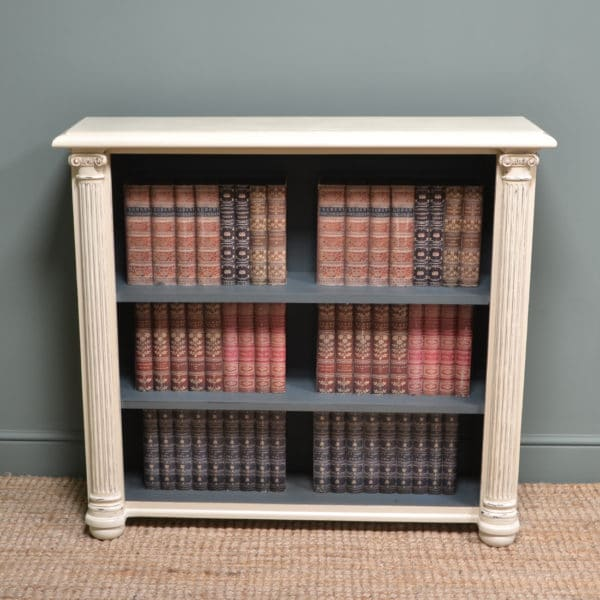 Antique Victorian Painted Open Bookcase