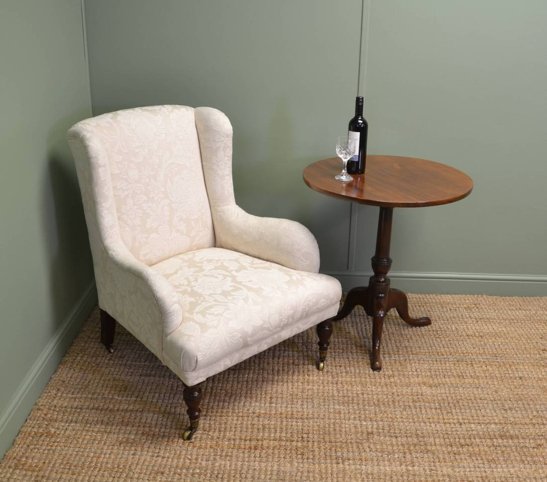 Upholstered Antique Victorian Armchair