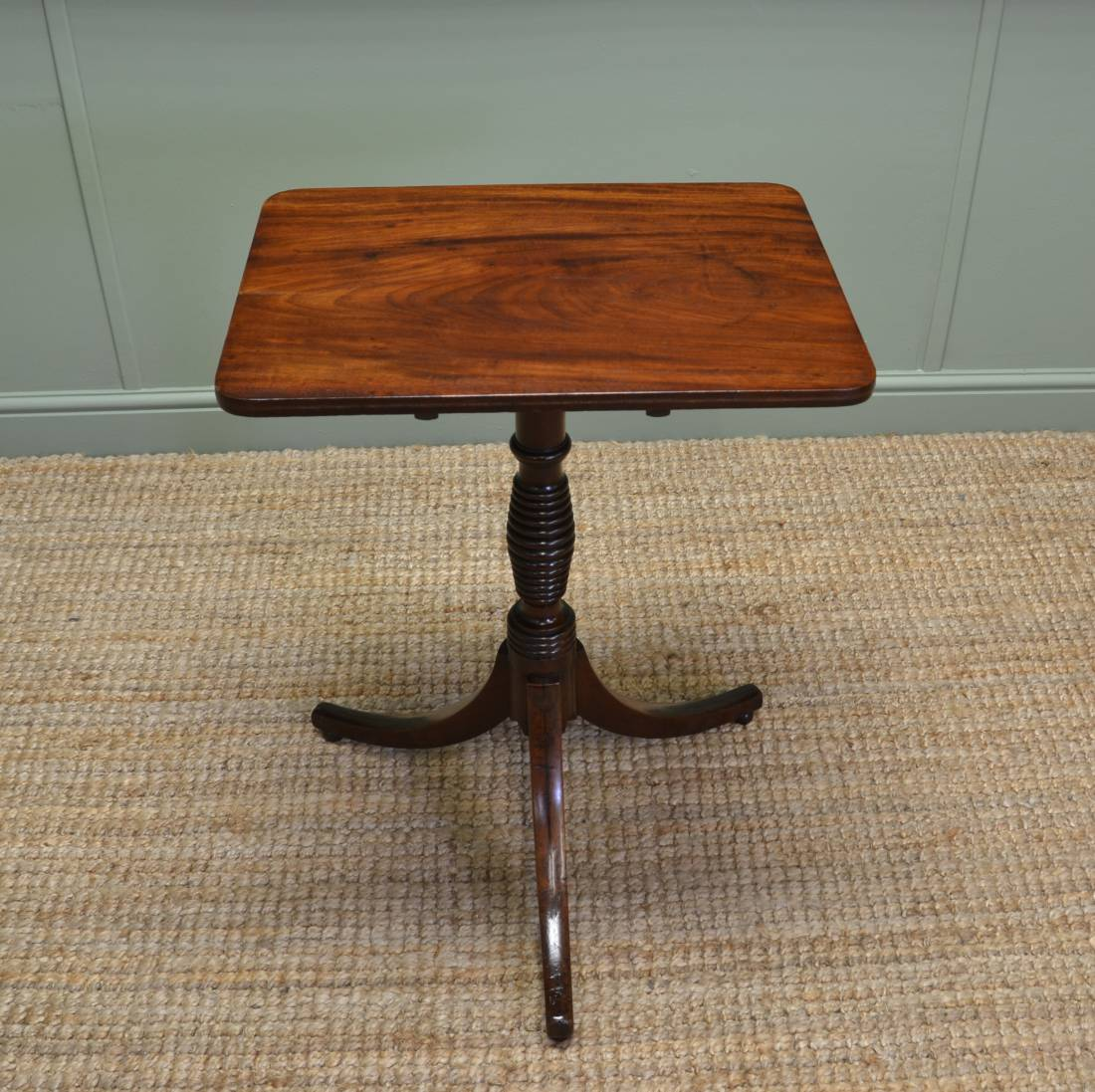 Antique Wine Pedestal Table