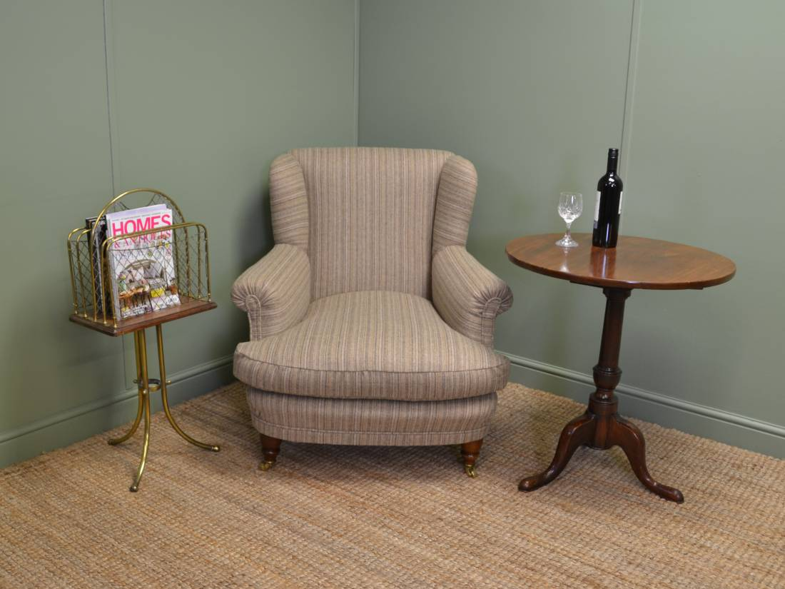 Superb Quality, Comfortable, Howard Style Victorian Antique Armchair.