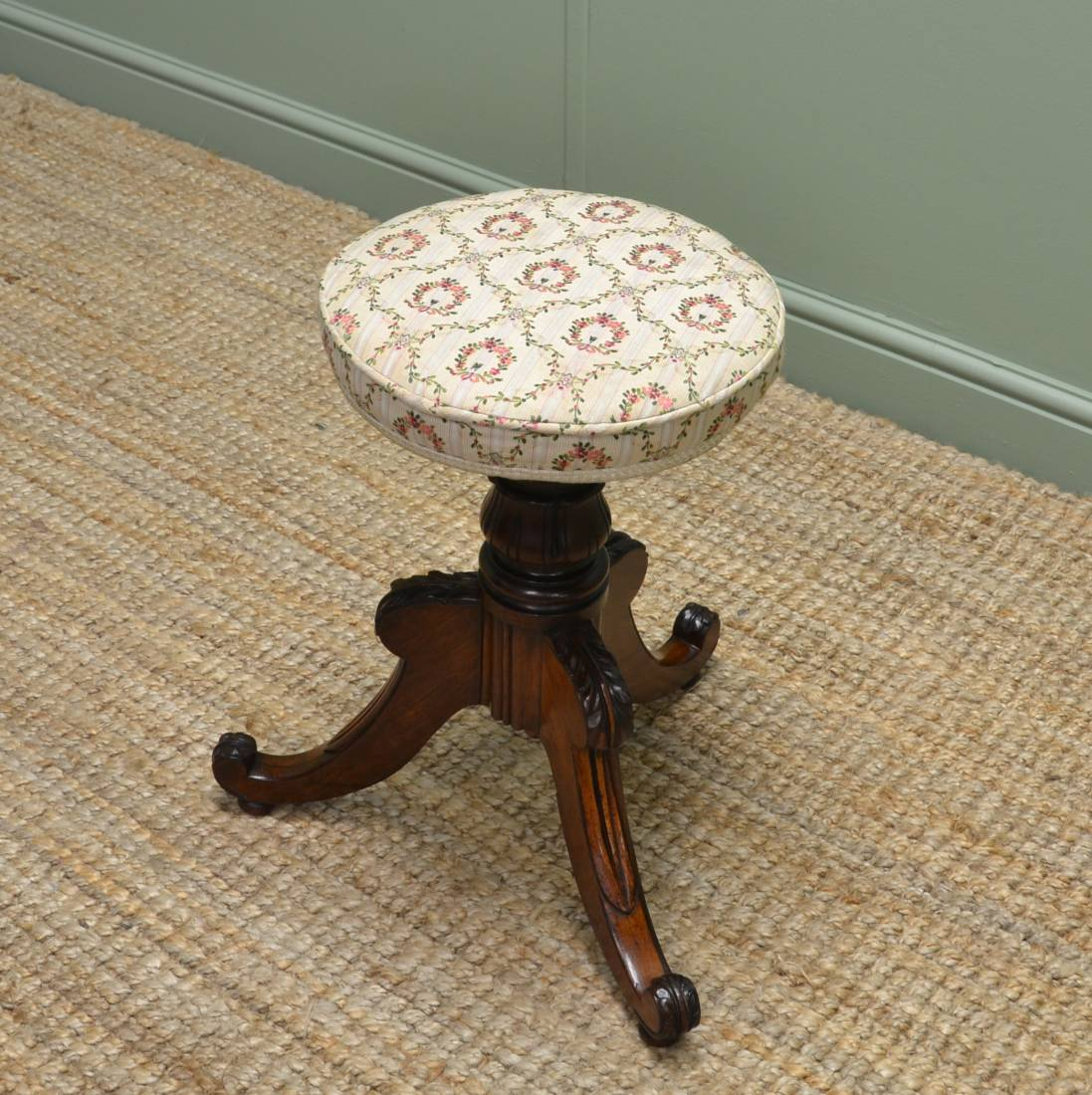 William IV Rosewood Antique Stool