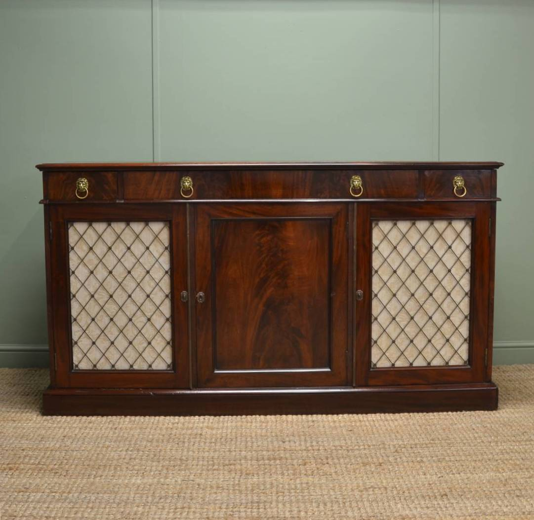 Regency Mahogany Antique Sideboard