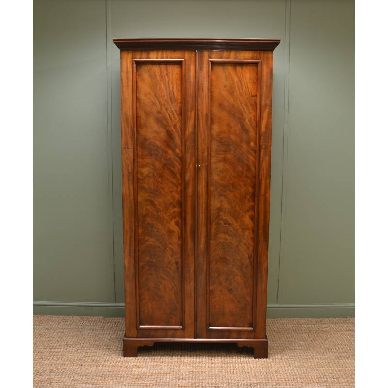 Unusual Antique Victorian Mahogany Wardrobe having Small Proportions