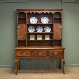 Antique, Georgian Design, Oak Dresser with Rack