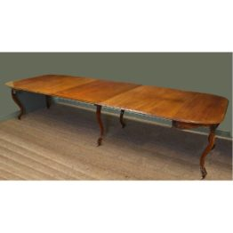 Huge 12ft Victorian Walnut Antique Dining Table