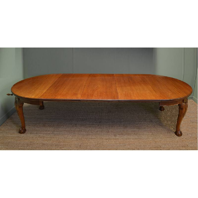 mahogany large victorian antique extending dining table antiques