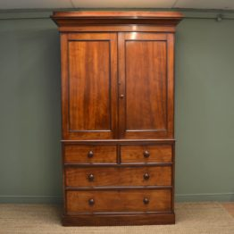 Victorian Mahogany Hanging Linen Press. ca 1840.