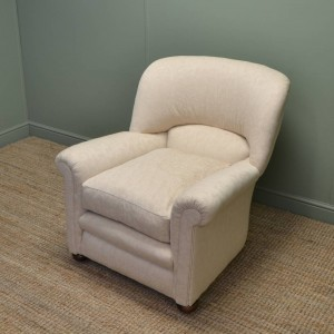 Comfortable Edwardian Upholstered Arm Chair