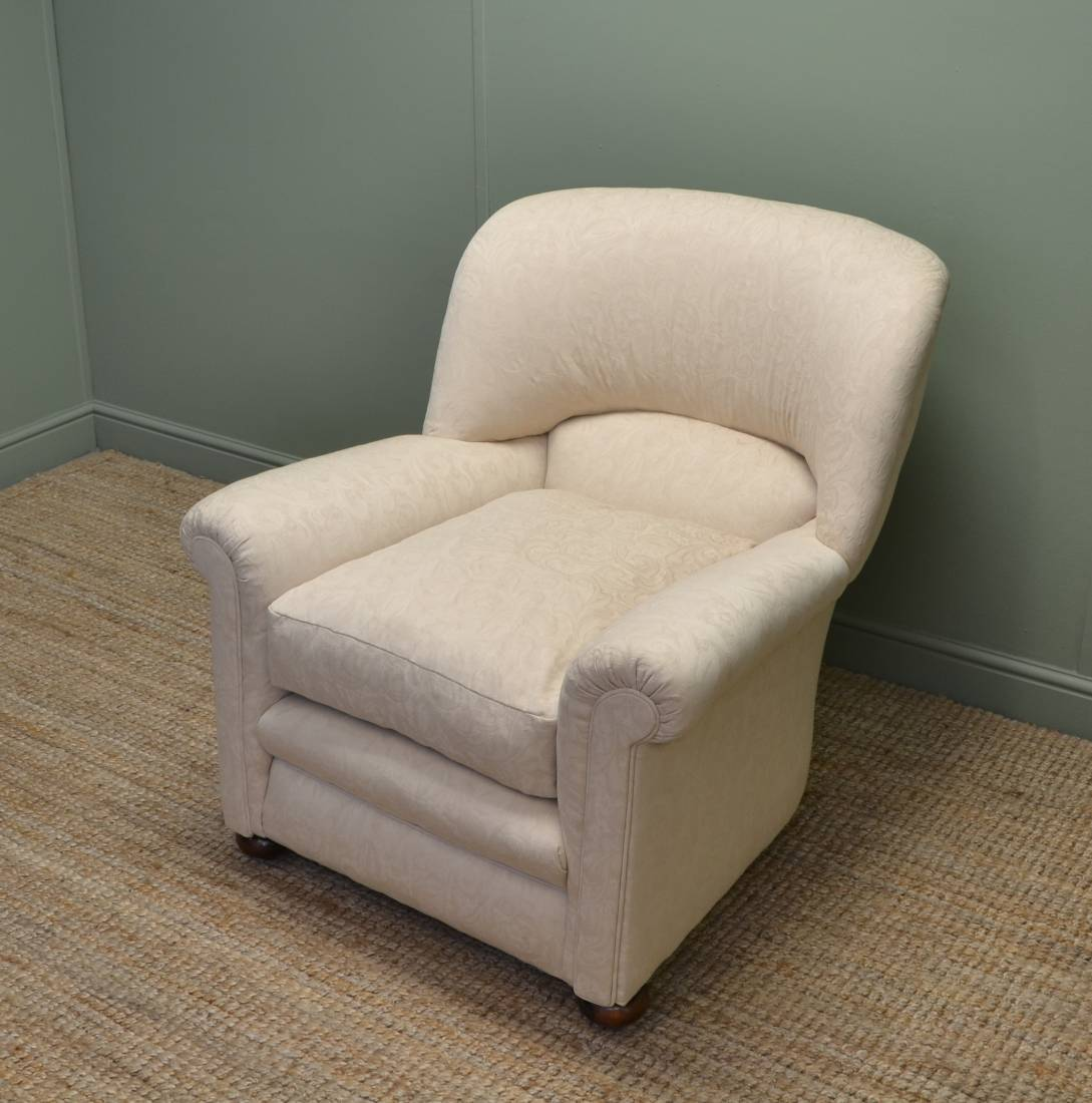 Comfortable edwardian upholstered arm chair antiques world for Small comfortable accent chairs
