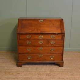 Quality George III Walnut Antique Bureau