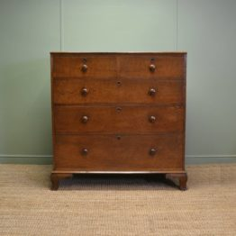 Fine Georgian Oak Antique Chest Of Drawers