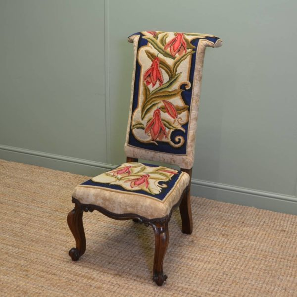 Early Victorian Rosewood Prayer Chair / Side chair