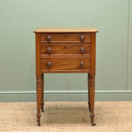 Regency, Figured Mahogany, Antique Side / Telephone Table