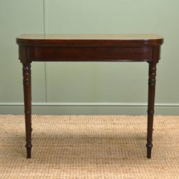 Antique Regency Mahogany 'D' end Card Table / Side Table.