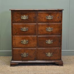 Rare Small Solid 'Burr' Pollard Oak Antique Chest Of Drawers