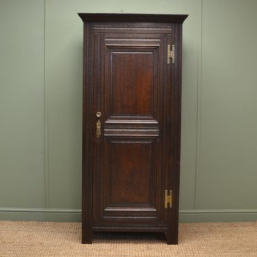 Georgian Design Antique Edwardian Oak Hall Cupboard.