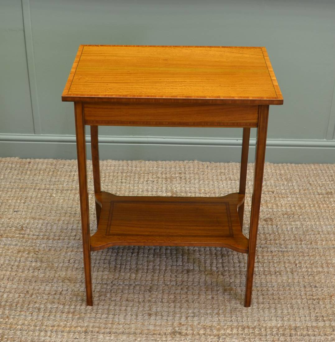 Stunning Quality Edwardian Satinwood Occasional / Side Table