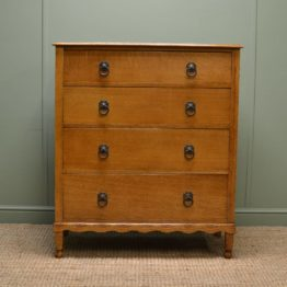 Quality Golden Oak Antique Chest of Drawers