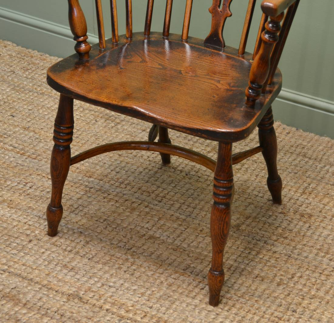 Charmant ... Ash And Elm Antique Windsor Chair ...