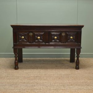 Superb Country Small Oak Antique Dresser Base