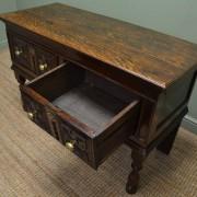 Superb Country Small Oak Antique Dresser Base