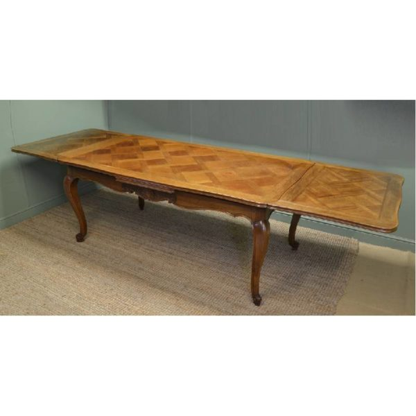 Huge 10ft French Antique Walnut Extending Dining Table