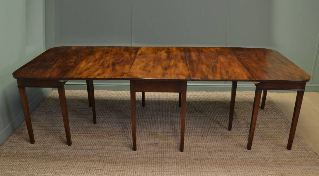 large georgian mahogany d end antique dining table antiques world