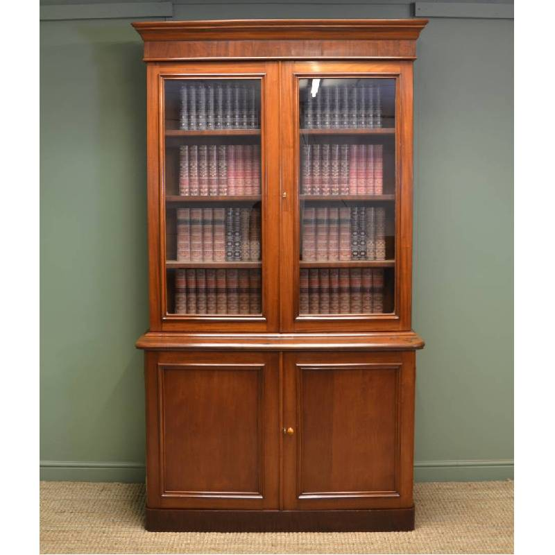 Quality Victorian Mahogany Antique Glazed Bookcase
