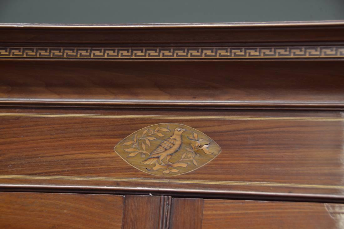 Superb Quality Inlaid Georgian Mahogany Antique Cupboard
