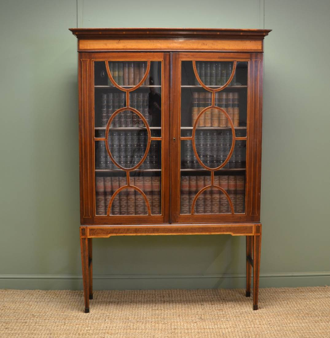 Inlaid Regency Mahogany Display Cabinet