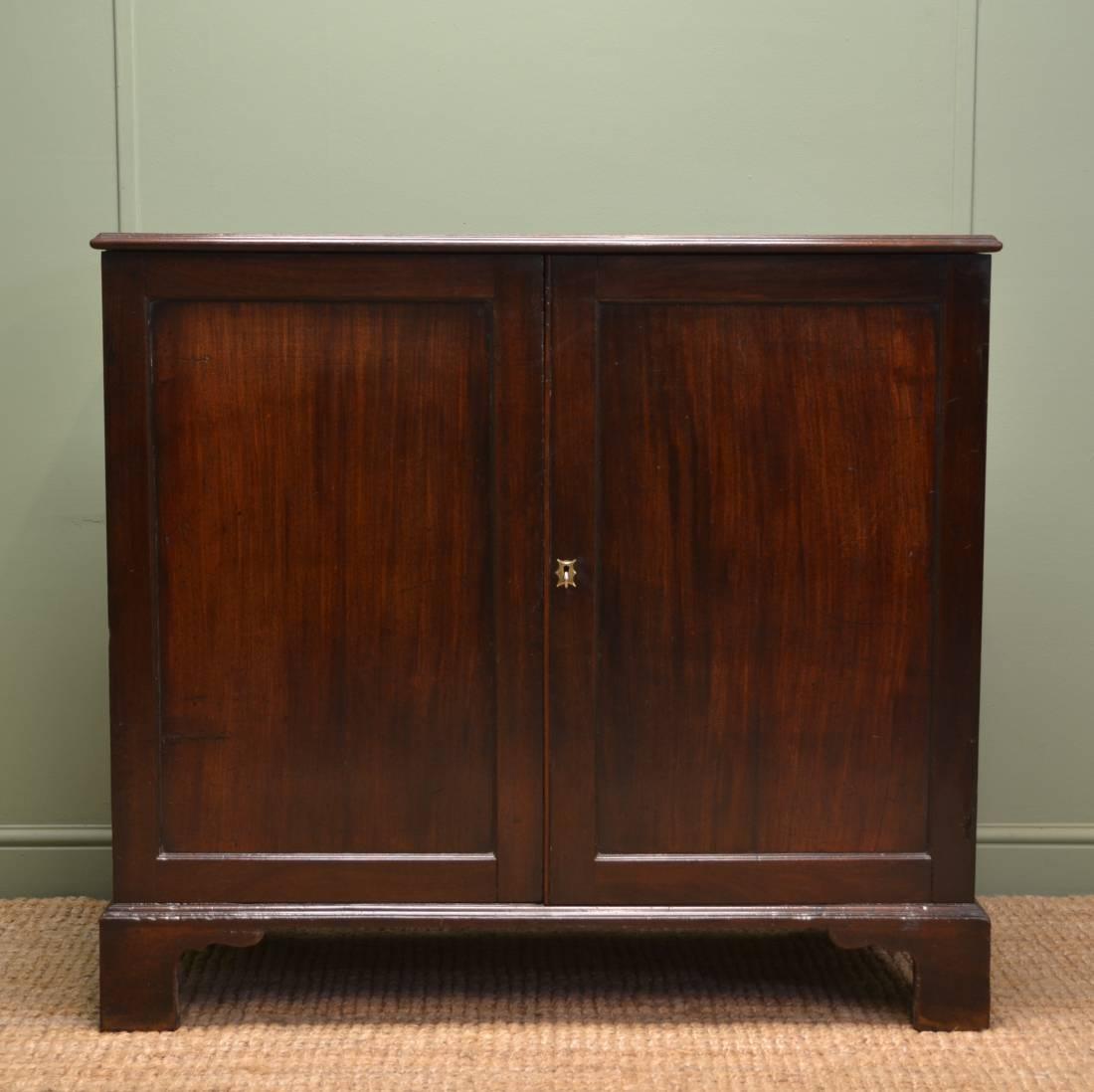 Fine Quality Georgian Cuban Mahogany Antique Cupboard