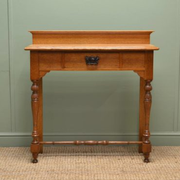Superb Quality Victorian Golden Oak Antique Hall Table