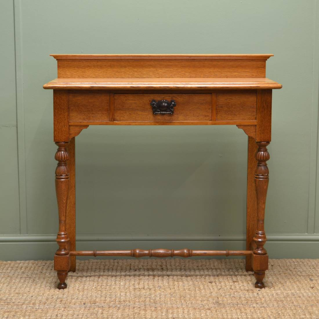 Foyer Table Uk : Superb quality victorian golden oak antique hall table