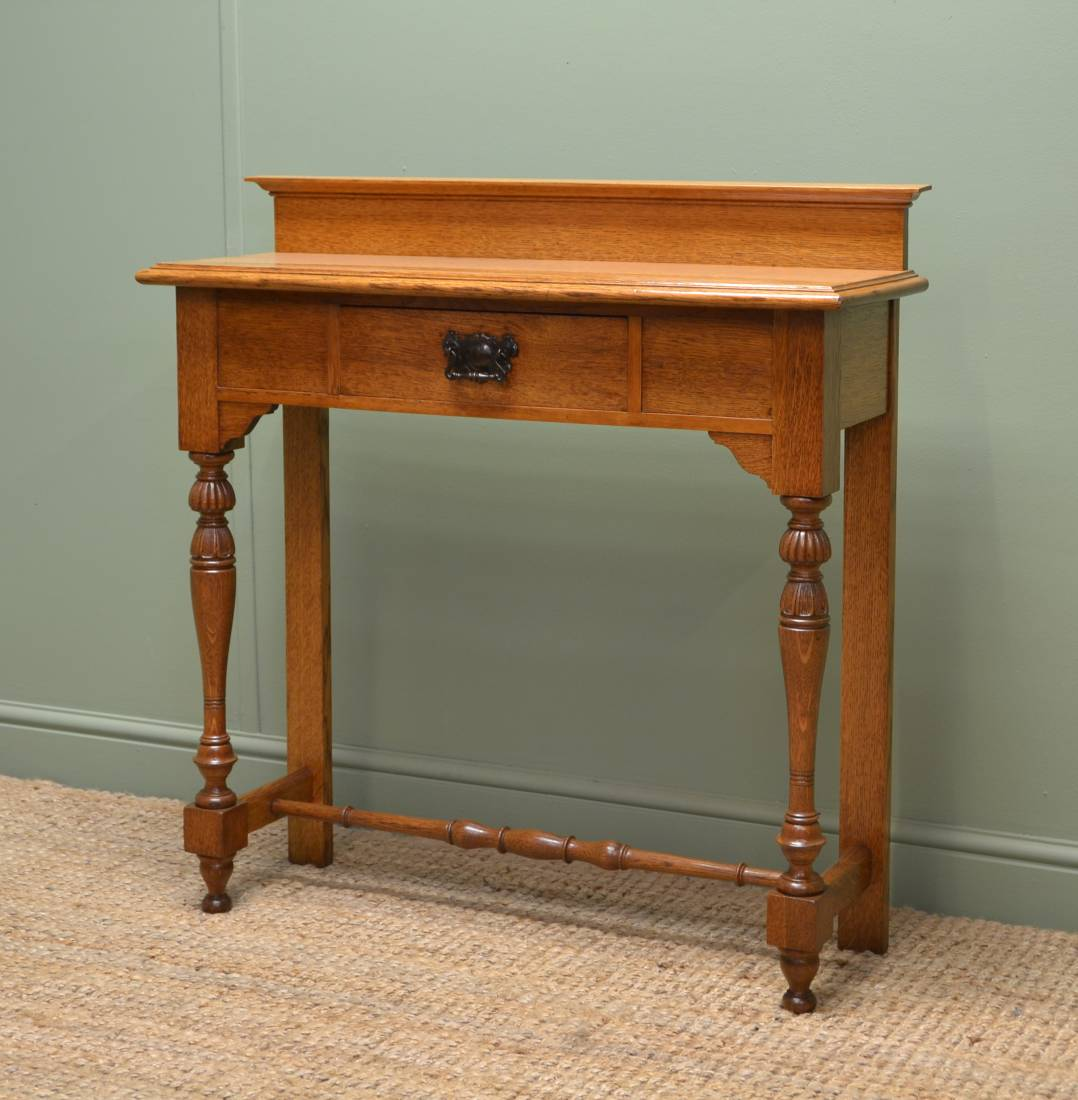 Victorian Foyer Table : Superb quality victorian golden oak antique hall table