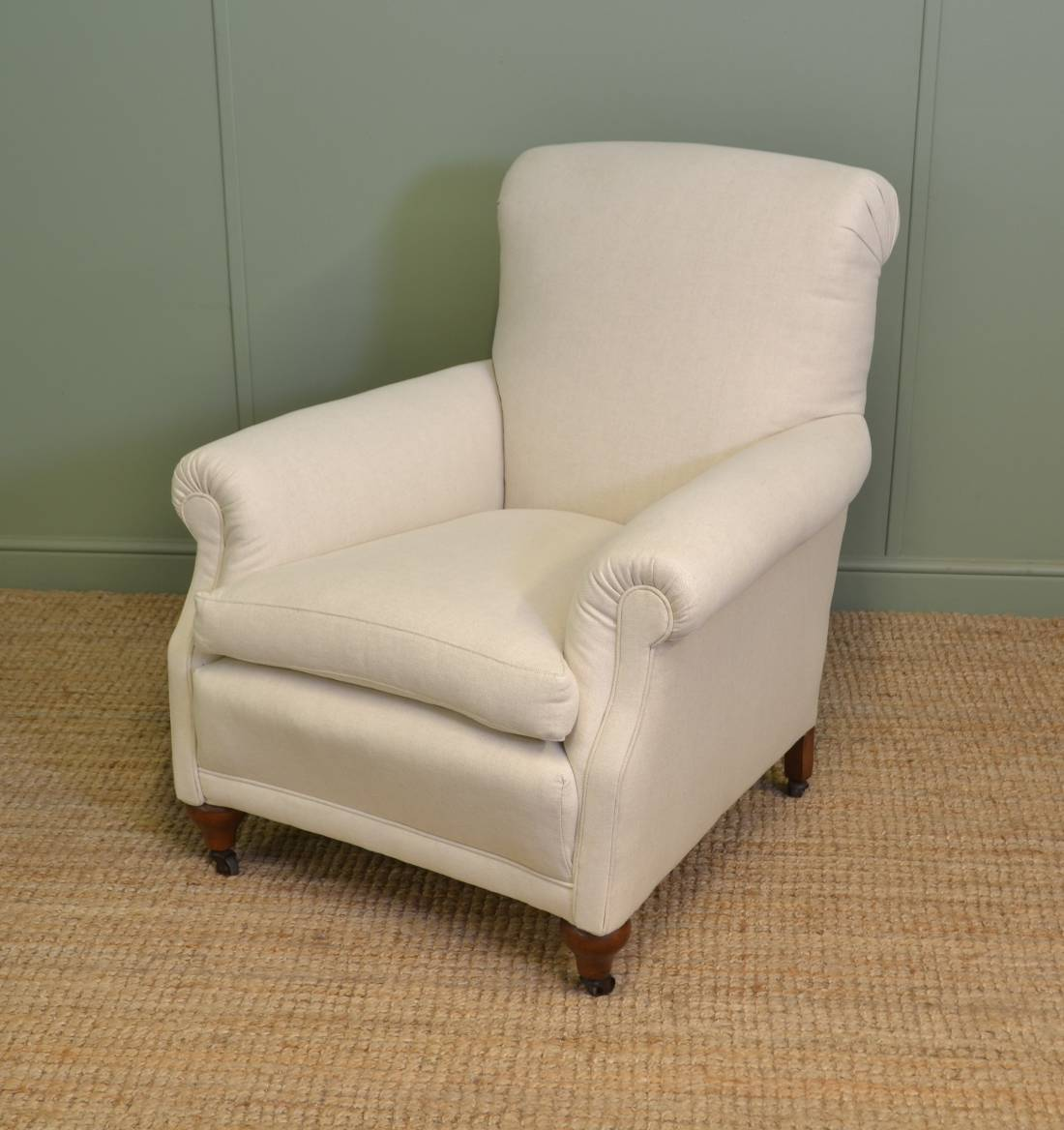 Comfy Antique Edwardian Upholstered Armchair