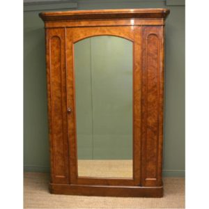Magnificent Quality Large Burr Walnut Antique Wardrobe