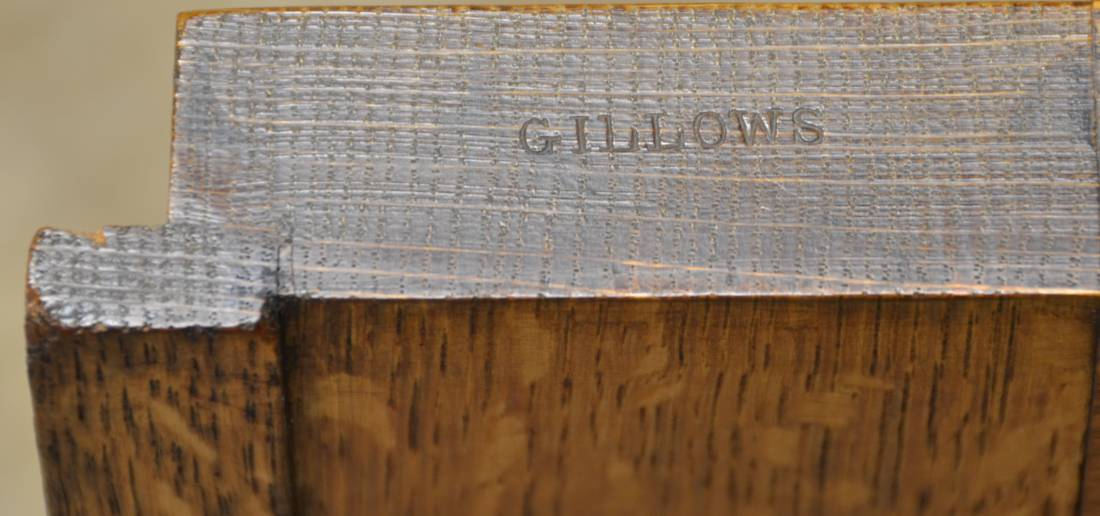 Gillows stamp on door edge