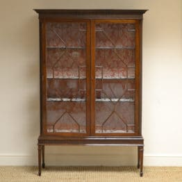 Elegant Edwardian Mahogany Antique Display Cabinet – Bookcase