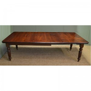 Large Victorian Walnut Antique Wind Out Dining Table