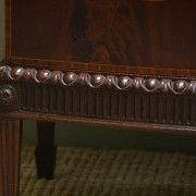 Fine Quality Inlaid Mahogany Antique Linen Press / Cupboard