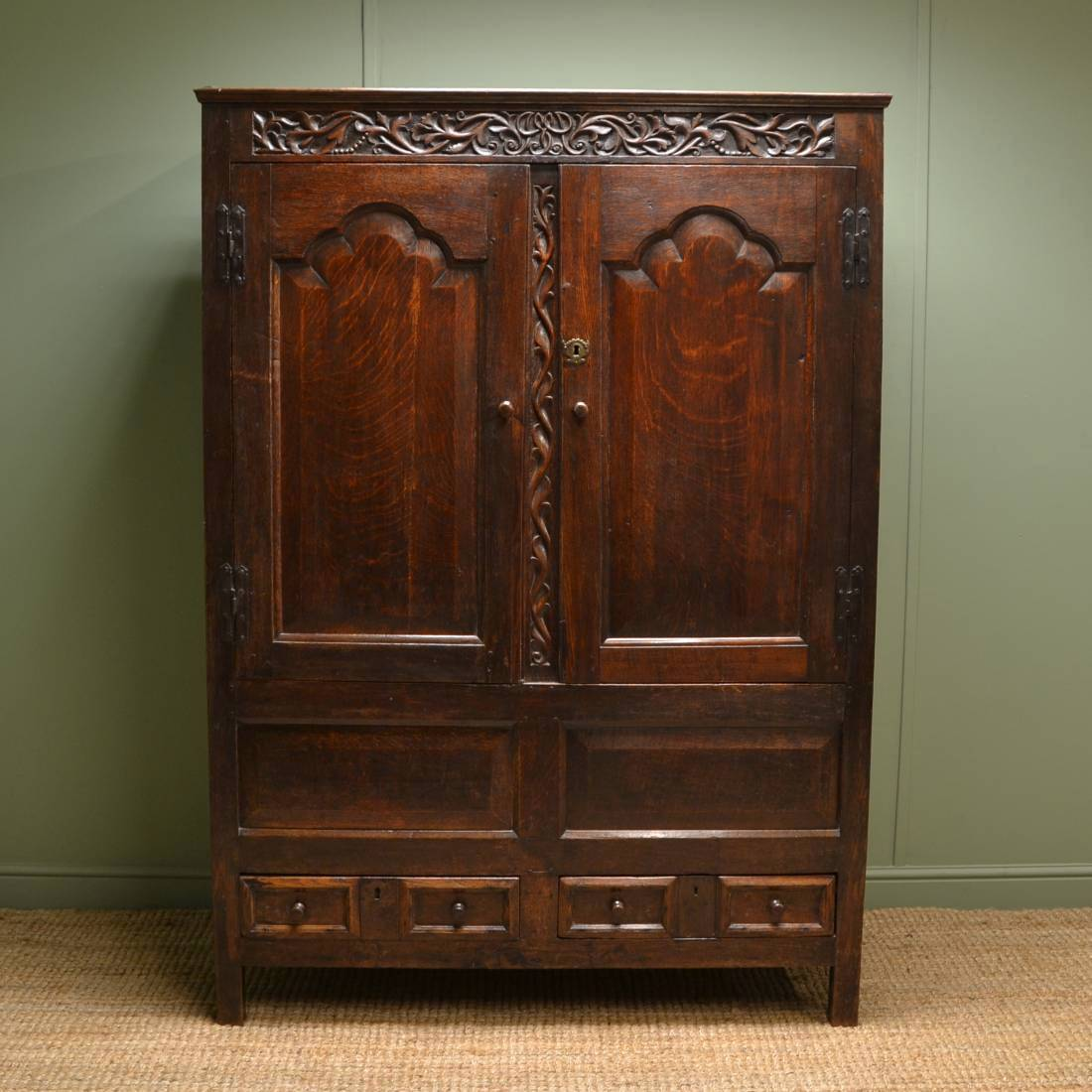 Period Oak Early Eighteenth Century Antique Harness Cupboard