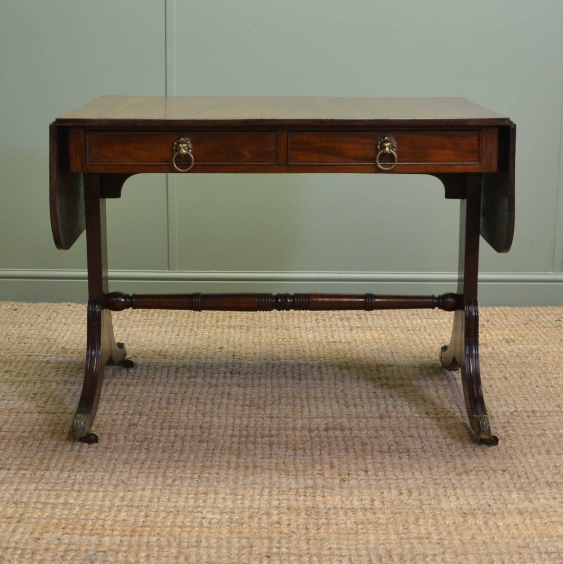 Fine quality regency mahogany antique sofa table for 10 inch sofa table