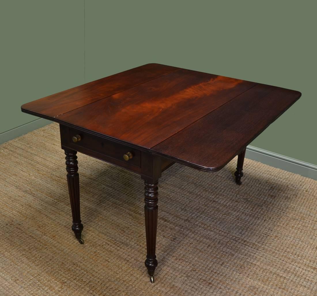 Regency Mahogany Antique Drop Leaf Table Antiques World