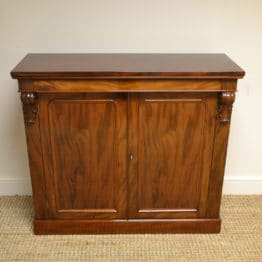 Spectacular Figured Mahogany Victorian Antique Cupboard / Chiffonier