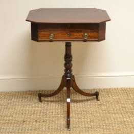 Unusual Regency Mahogany Pedestal Occasional Table