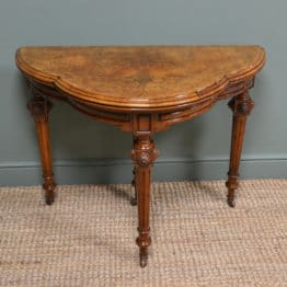 Beautifully Figured Walnut Antique Victorian Card Table – Games Table