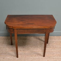 Fine Regency Mahogany Antique Side Table / Tea Table