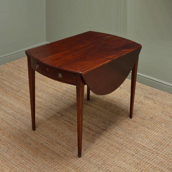 Fine Regency Small Mahogany Drop Leaf Dining Table